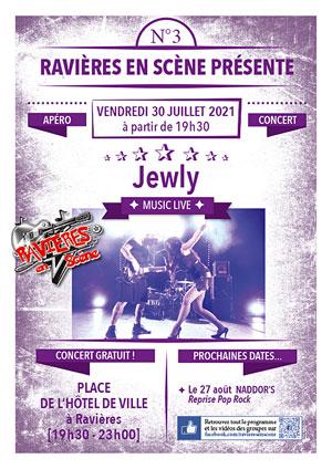 Apéro-concert avec Jewly (rock engagé et émouvant) dans le cadre de Ravières en Scène (saison 6)
