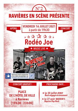 Apéro-concert avec Rodéo Joe (Rock'n Roll et Blues à l'ancienne) dans le cadre de Ravières en Scène (saison 6)
