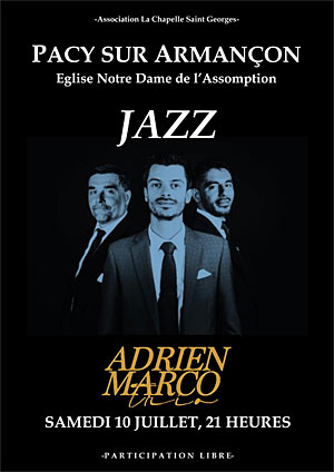 Concert avec Adrien Marco Trio (Jazz et Swing Manouche)