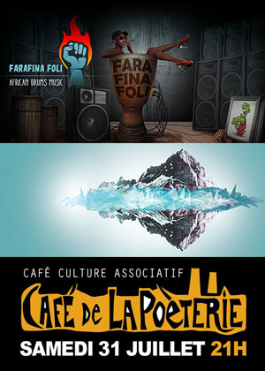Concert et spectacle avec Farafina Foli et les Amazones (percu et danse africaine) et Organic Banana (dj)