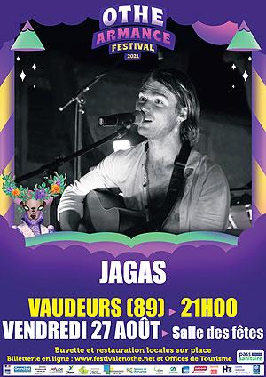Othe-Armance Festival (festival itinérant) : Concert avec Jagas (rock / chansons rock festives)