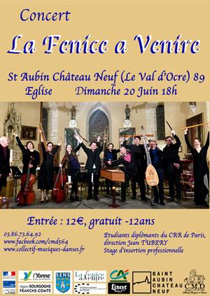 Concert de l'Ensemble La Fenice a Venire sous la direction de Jean Tubéry avec les étudiants du CRR de Paris