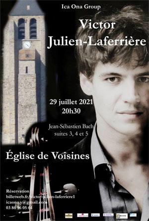 Concert de musique classique par Victor Julien-Laferrière : Suites 3, 4 et 5 pour violoncelle de Jean-Sébastien Bach