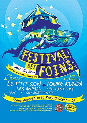 FESTIVAL DES FOINS (9ème édition) : Concerts avec Le P'tit Son, Les Animal, Arcy et Sky Boat + scène ouverte avec Ring O'Stars (DJ)