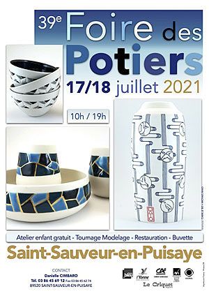 39ème Foire des Potiers de Saint-Sauveur-en-Puisaye (sur 2 jours)