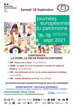 Journées européennes du Patrimoine : Conférences