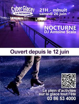 Nocturne à la patinoire avec le Dj Antoine Scala