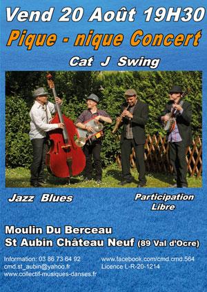 Pique-nique concert avec Cat J Swing (Jazz Blues)