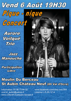 Pique-nique concert avec Aurore Voilqué Trio (Jazz manouche)
