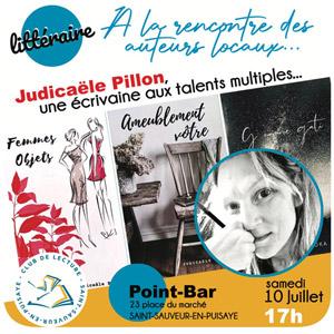 Rencontre littéraire avec Judicaële Pillon (écrivaine aux talents multiples)