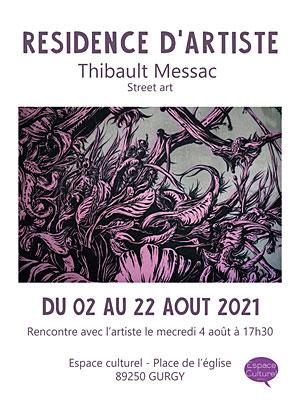 Résidence d'artiste : Thibault Messac (Street art)