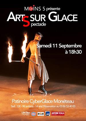 Spectacle d'Arts sur Glace avec la Compagnie Moins 5 (show patinage, danse, freestyle et arts du cirque)