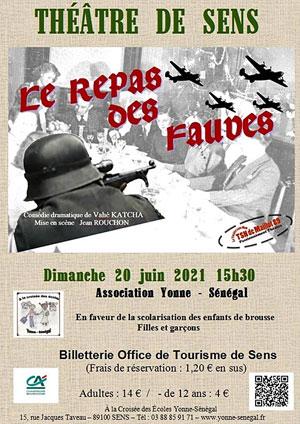 Théâtre : LE REPAS DES FAUVES par le THEATRE SANS NOM DE MAILLOT (comédie dramatique de Vahé Katcha / Mise en scène : Jean Rouchon)