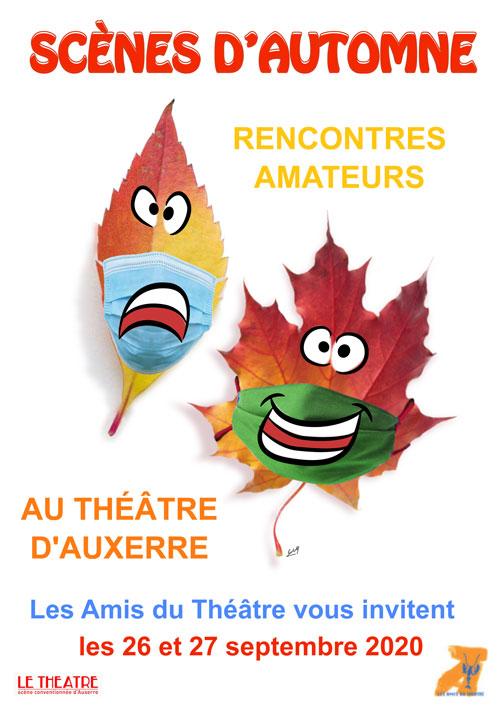 SCÈNES D'AUTOMNE 2020 (festival de théâtre amateur / 5 spectacles sur 2 jours)
