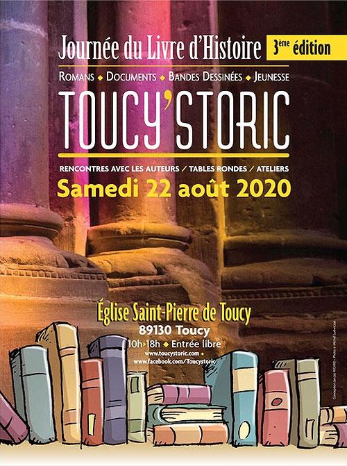 TOUCY'STORIC : 3ème JOURNEE DU LIVRE D'HISTOIRE / Romans, documents, bandes-dessinées, jeunesse / Rencontres avec les auteurs, tables rondes, ateliers